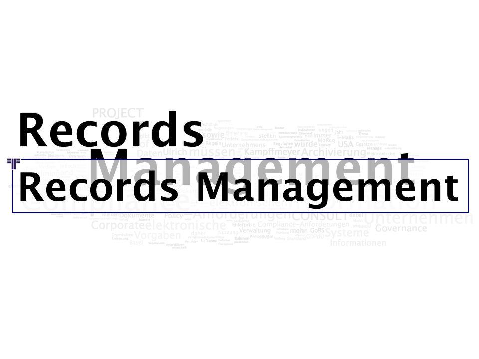 Records Management Records Management
