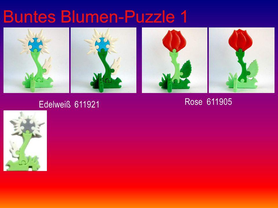 Buntes Blumen-Puzzle 1 Edelweiß 611921 Rose 611905