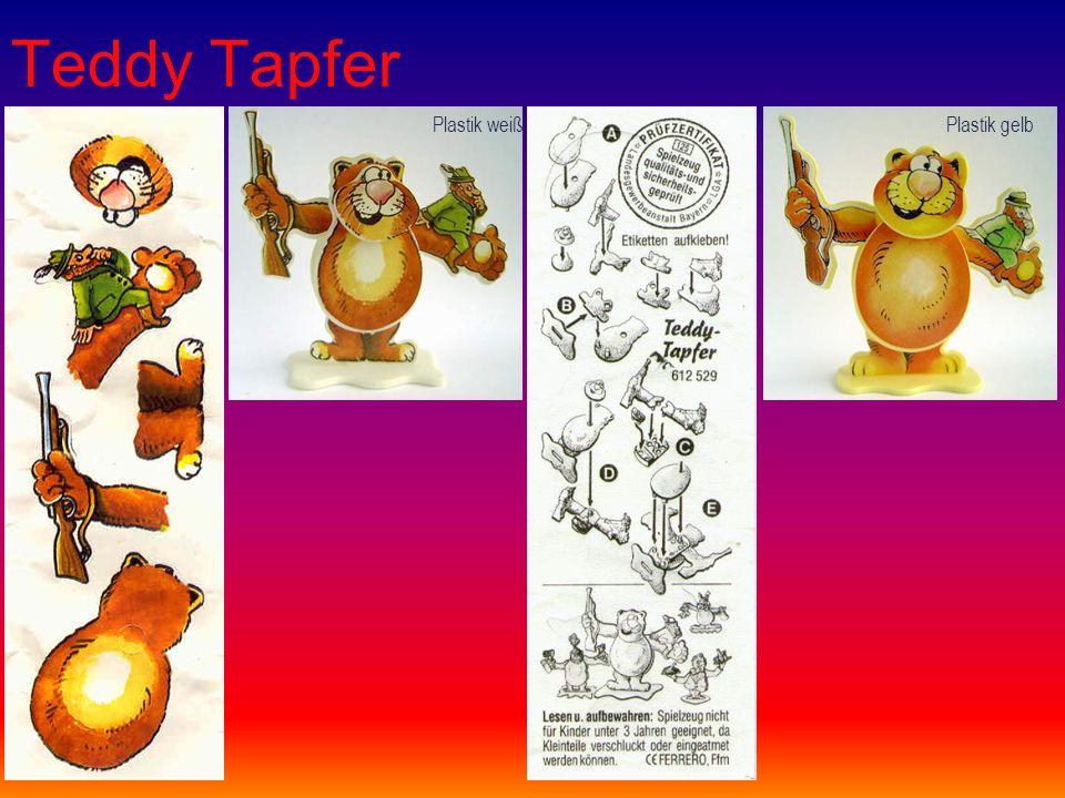 Teddy Tapfer Plastik weißPlastik gelb