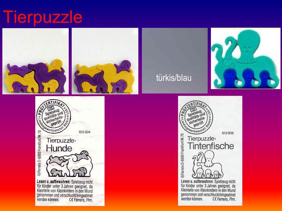 Tierpuzzle türkis/blau