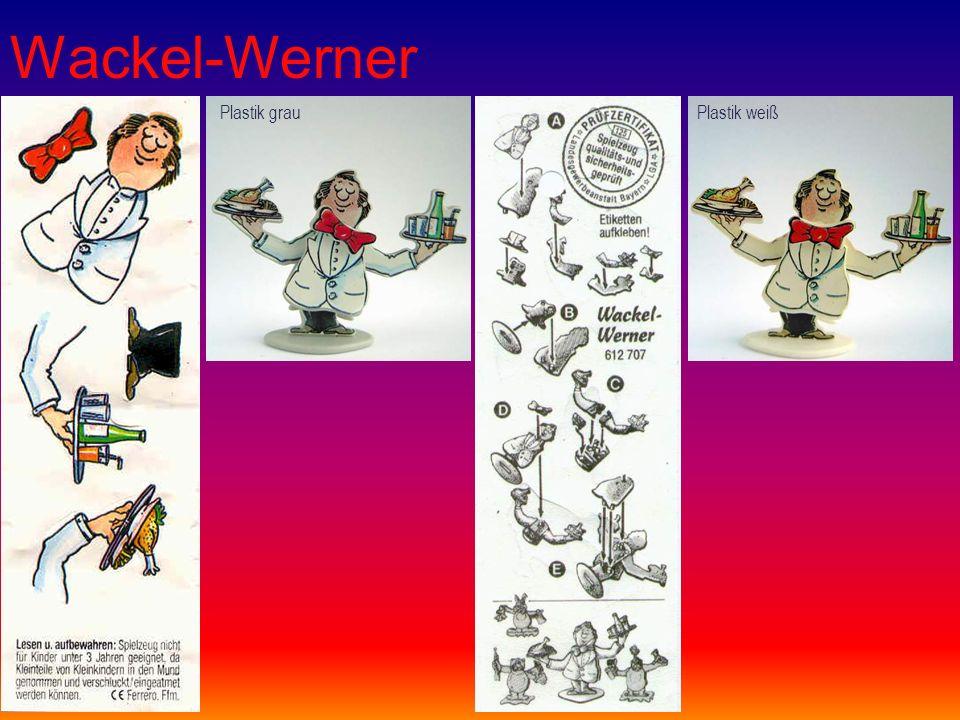 Wackel-Werner Plastik grauPlastik weiß