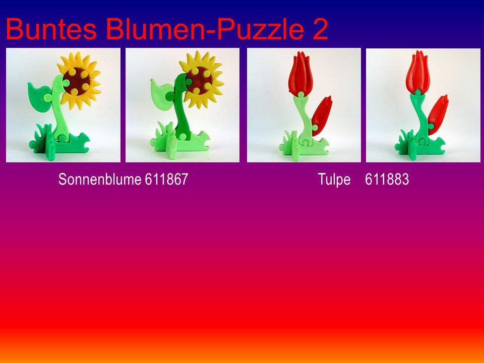 Buntes Blumen-Puzzle 2 Sonnenblume 611867Tulpe 611883