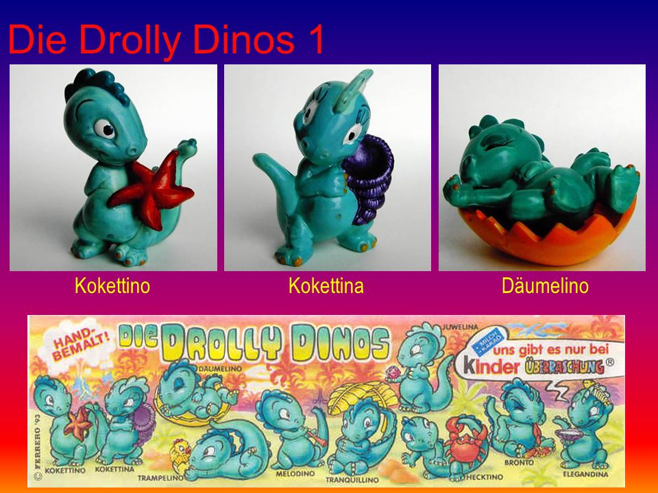 Die Drolly Dinos 1 KokettinoKokettinaDäumelino