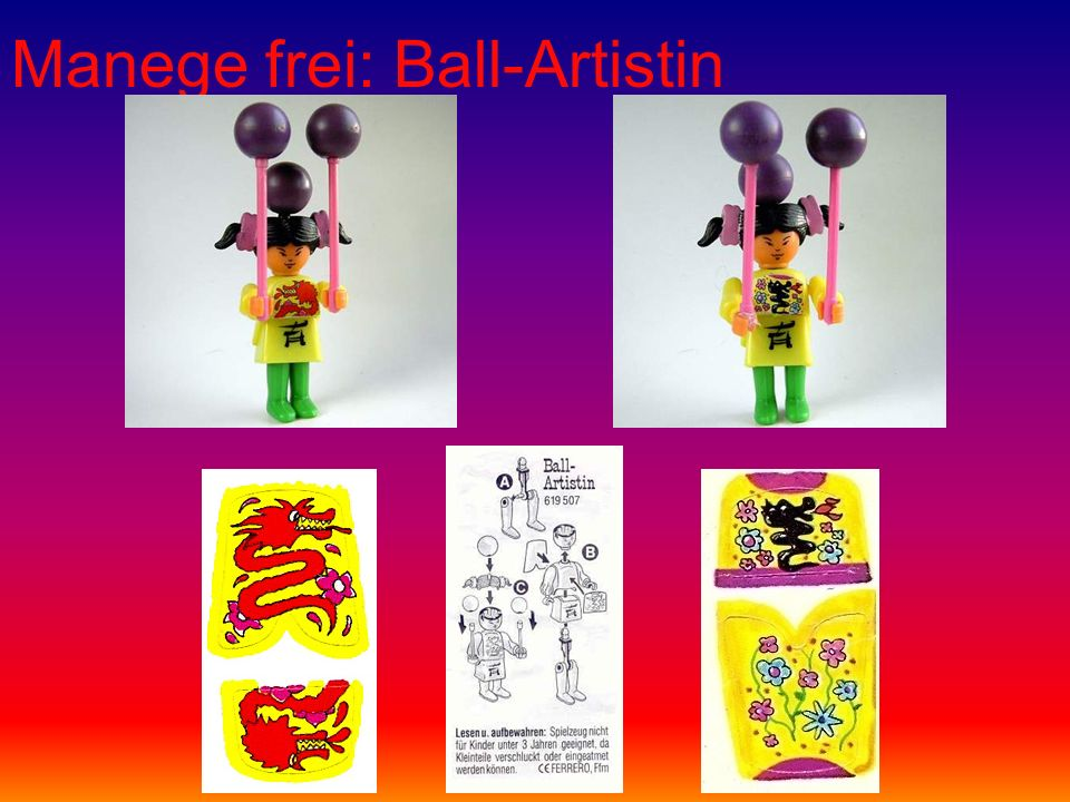 Manege frei: Ball-Artistin