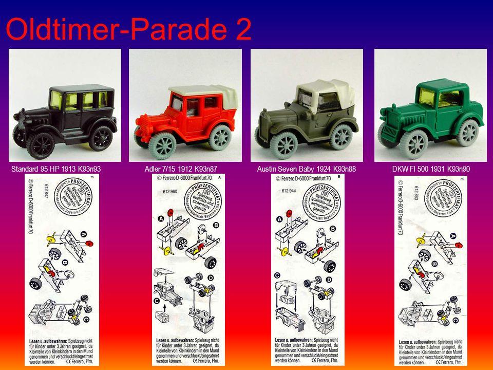 Oldtimer-Parade 2 Standard 95 HP 1913 K93n93Adler 7/15 1912 K93n87Austin Seven Baby 1924 K93n88DKW Fl 500 1931 K93n90