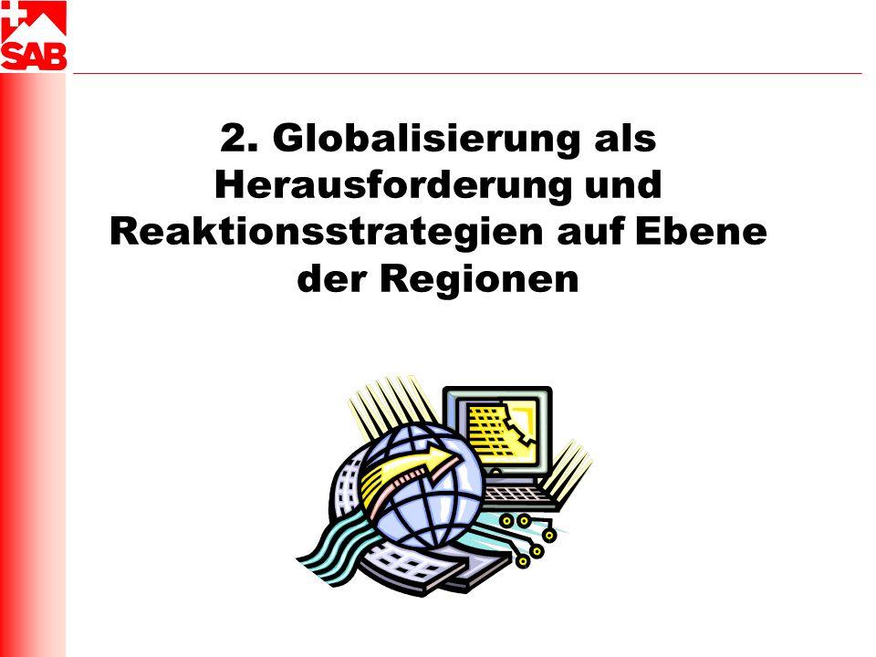 2. Globalisierung als Herausforderung und Reaktionsstrategien auf Ebene der Regionen