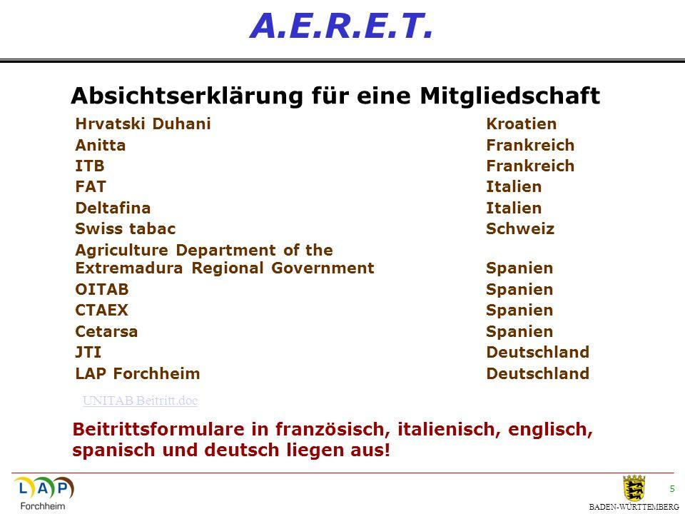 BADEN-WÜRTTEMBERG 6 A.E.R.E.T.Allgemeine Ziele 1.