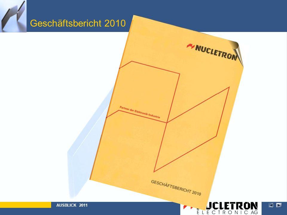 Geschäftsbericht 2010 Abbildung AUSBLICK 2011
