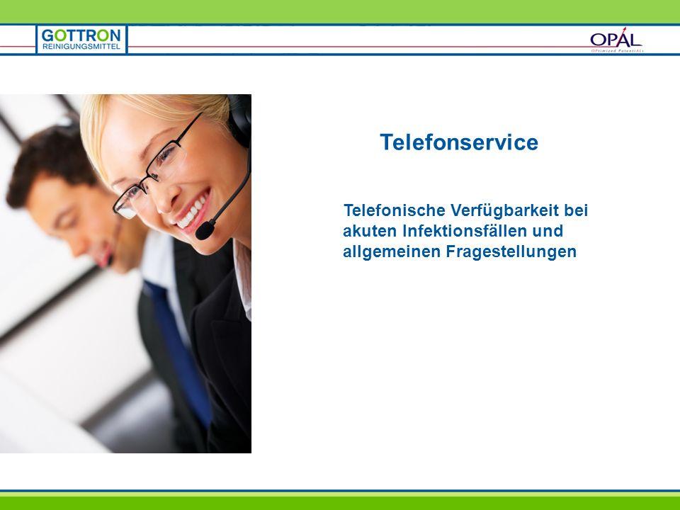 Telefonservice Telefonische Verfügbarkeit bei akuten Infektionsfällen und allgemeinen Fragestellungen