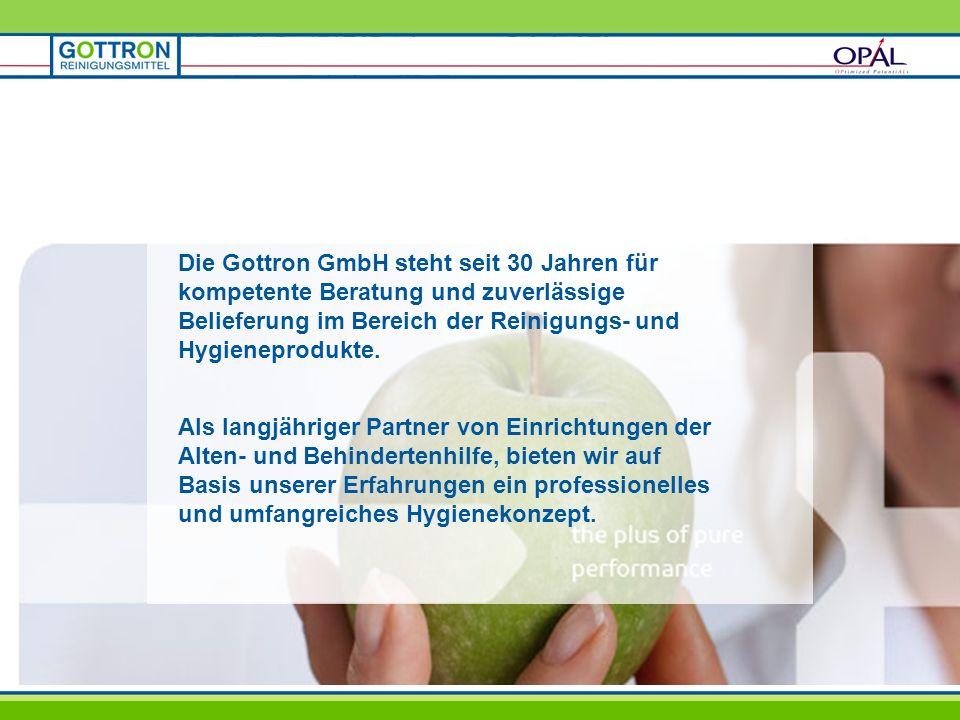 Die Gottron GmbH steht seit 30 Jahren für kompetente Beratung und zuverlässige Belieferung im Bereich der Reinigungs- und Hygieneprodukte. Als langjäh