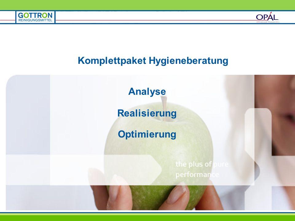 Komplettpaket Hygieneberatung Analyse Realisierung Optimierung
