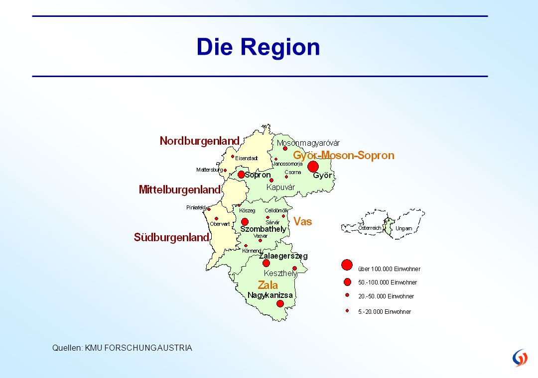 Projekt Zukunftsperspektiven Burgenland und West Transdanubien Grenzüberschreitende Aktivitäten der burgenländischen Betriebe Befragung von rd.