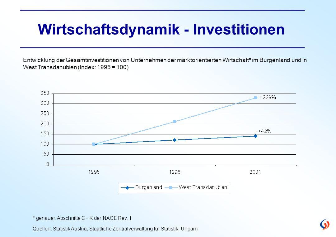 Wirtschaftsdynamik - Investitionen * genauer: Abschnitte C - K der NACE Rev.