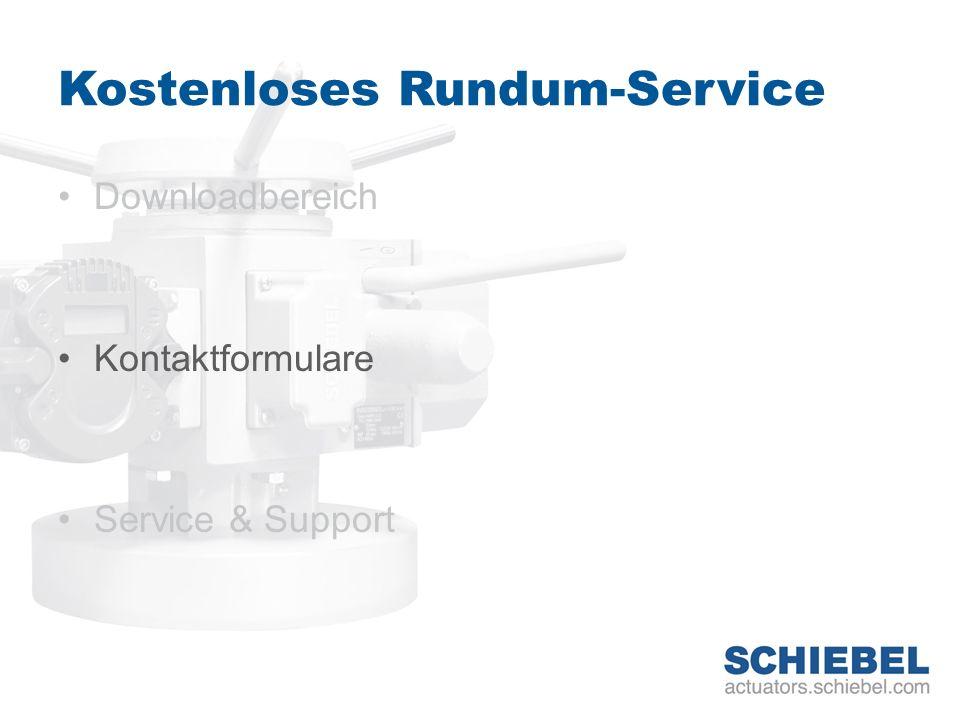 Kostenloses Rundum-Service Downloadbereich Kontaktformulare Service & Support