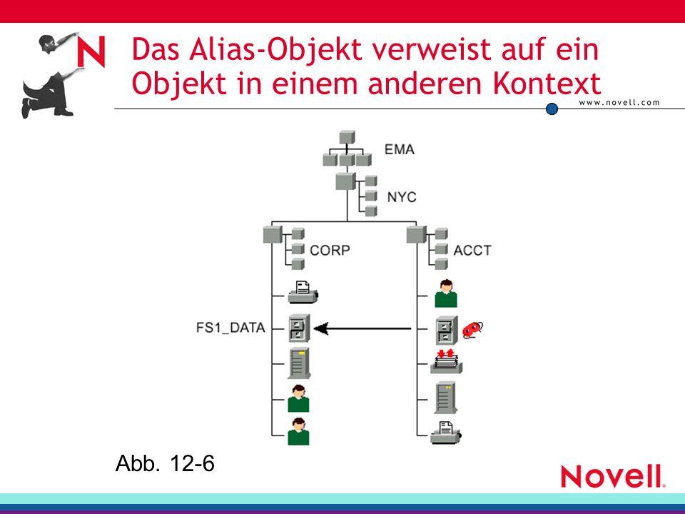 Das Alias-Objekt verweist auf ein Objekt in einem anderen Kontext Abb. 12-6