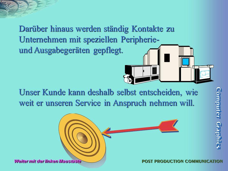 Computer Graphics Gerhilt Braun, ein äußerst flexibles Unternehmen im Rhein-Main-Gebiet, arbeitet seit 1991erfolgreich am Markt.