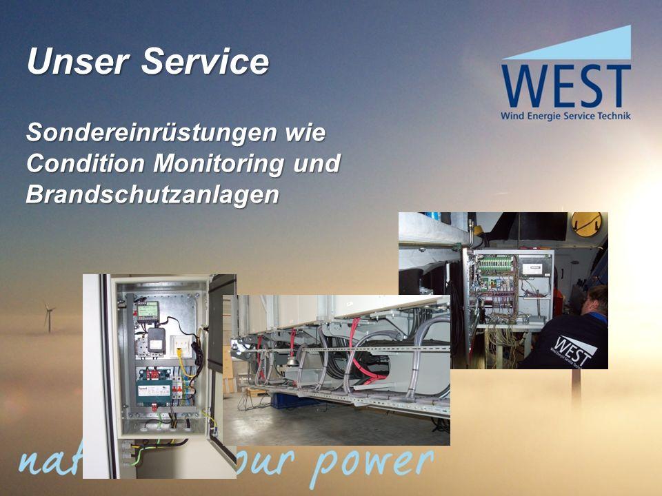 Sondereinrüstungen wie Condition Monitoring und Brandschutzanlagen Unser Service