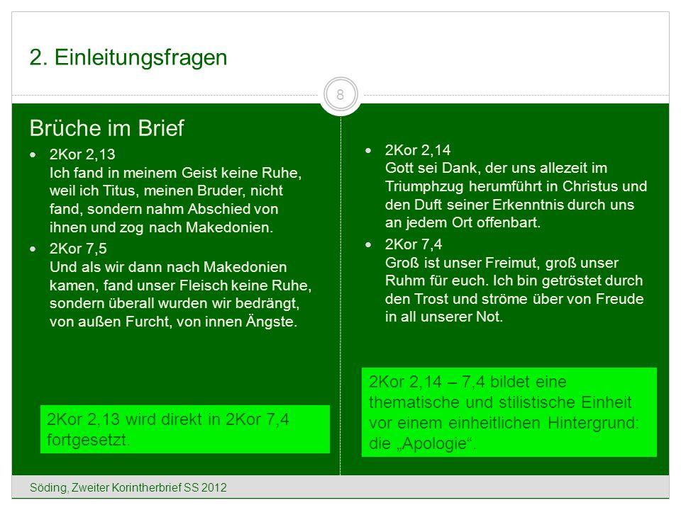 9. Der Geist Christi (2Kor 5,1-10) Söding, Zweiter Korintherbrief SS 2012 49