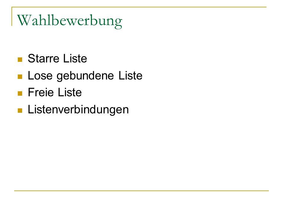 Typologie von Wahlsystemen III 3.