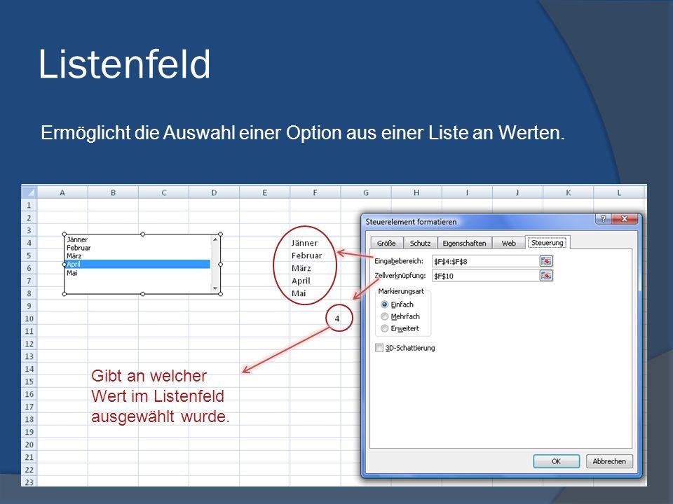 Optionsfeld Es kann innerhalb einer Optionsfeldgruppe immer nur ein Schalter markiert werden. Entweder… Gibt an welches Optionsfeld markiert ist. … od