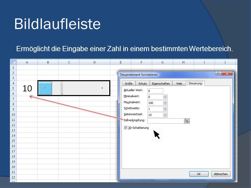 Drehfeld Mit einem Drehfeld können numerische Daten in einem vorgegebenen Wertebereich erhöht oder verringert werden.
