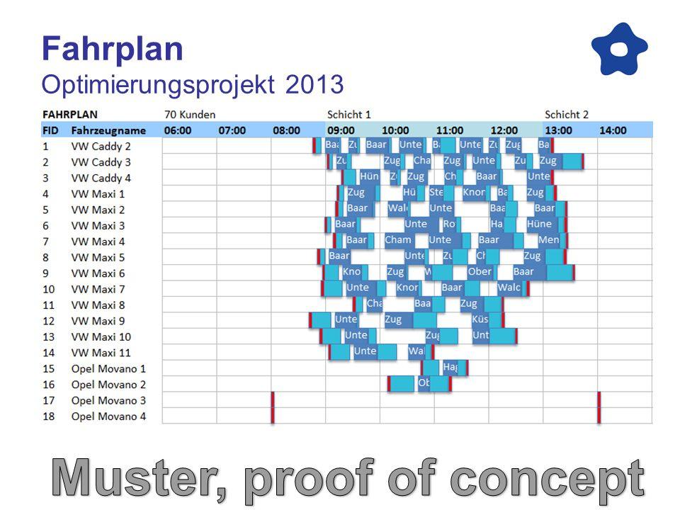 Fahrkarte Optimierungsprojekt 2013