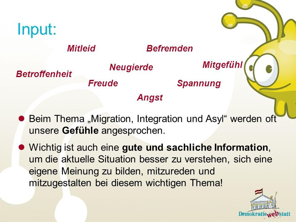 Beim Thema Migration, Integration und Asyl werden oft unsere Gefühle angesprochen.