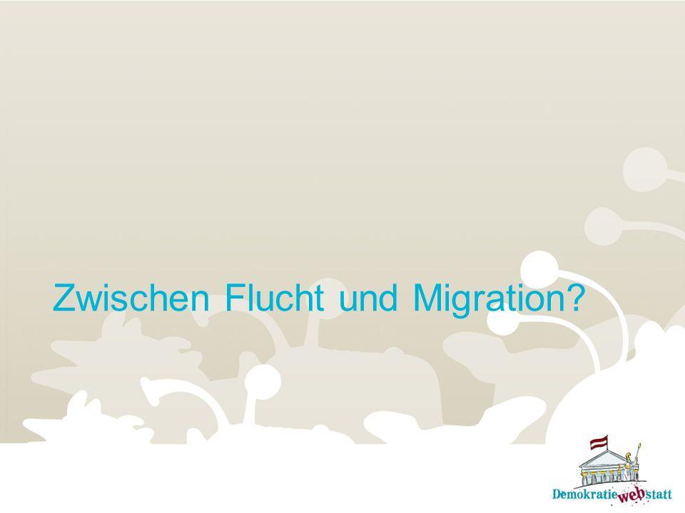 Zwischen Flucht und Migration?