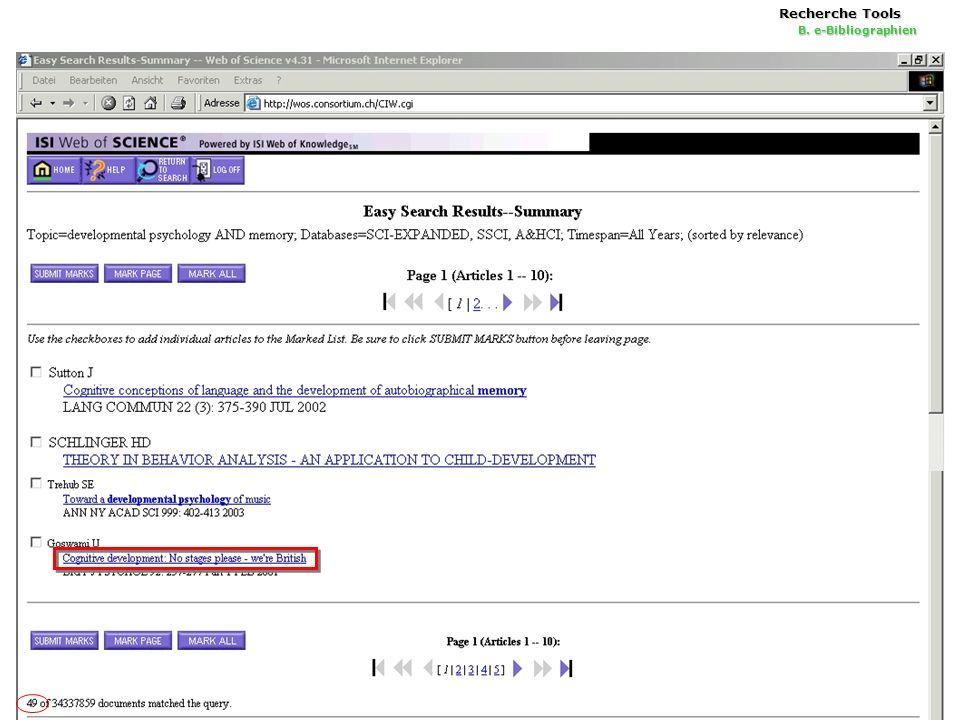 22 Recherche Tools B. e-Bibliographien