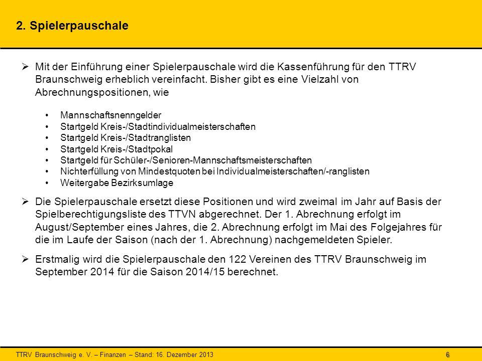 TTRV Braunschweig e.V. – Finanzen – Stand: 16. Dezember 2013 6 2.