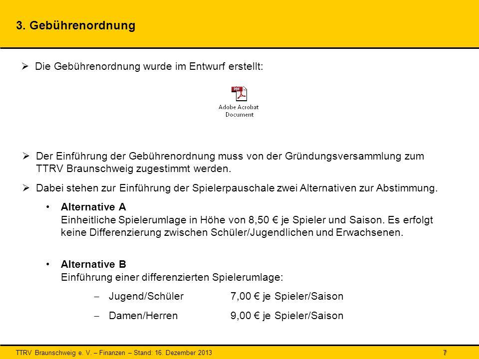 TTRV Braunschweig e.V. – Finanzen – Stand: 16. Dezember 2013 7 3.