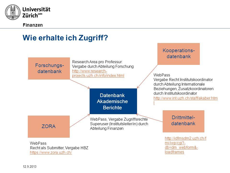 Finanzen 12.9.2013 Termine –Drittmitteldatenbank: 31.