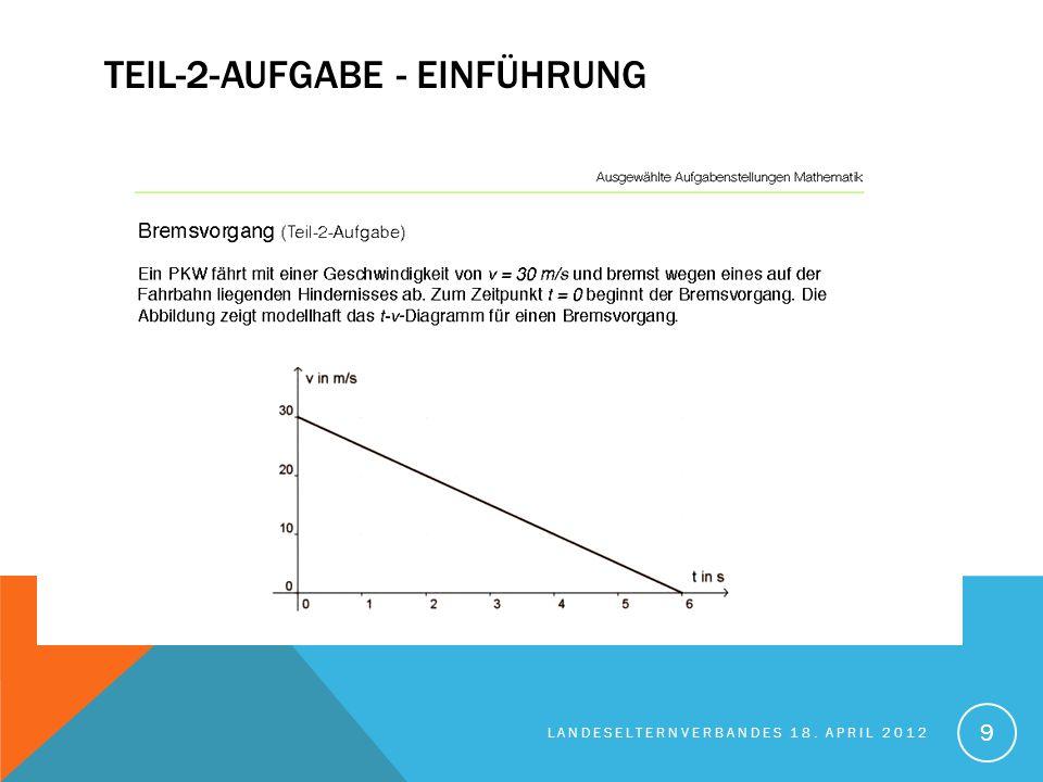 TEIL-2-AUFAGBE - AUFGABENSTELLUNG LANDESELTERNVERBANDES 18. APRIL 2012 10