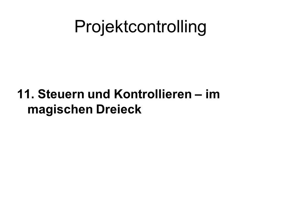 Projektcontrolling 11. Steuern und Kontrollieren – im magischen Dreieck