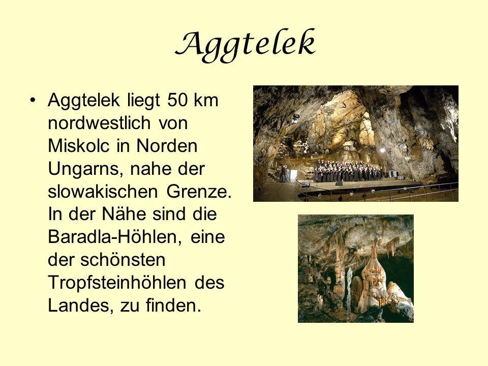 Aggtelek Aggtelek liegt 50 km nordwestlich von Miskolc in Norden Ungarns, nahe der slowakischen Grenze. In der Nähe sind die Baradla-Höhlen, eine der