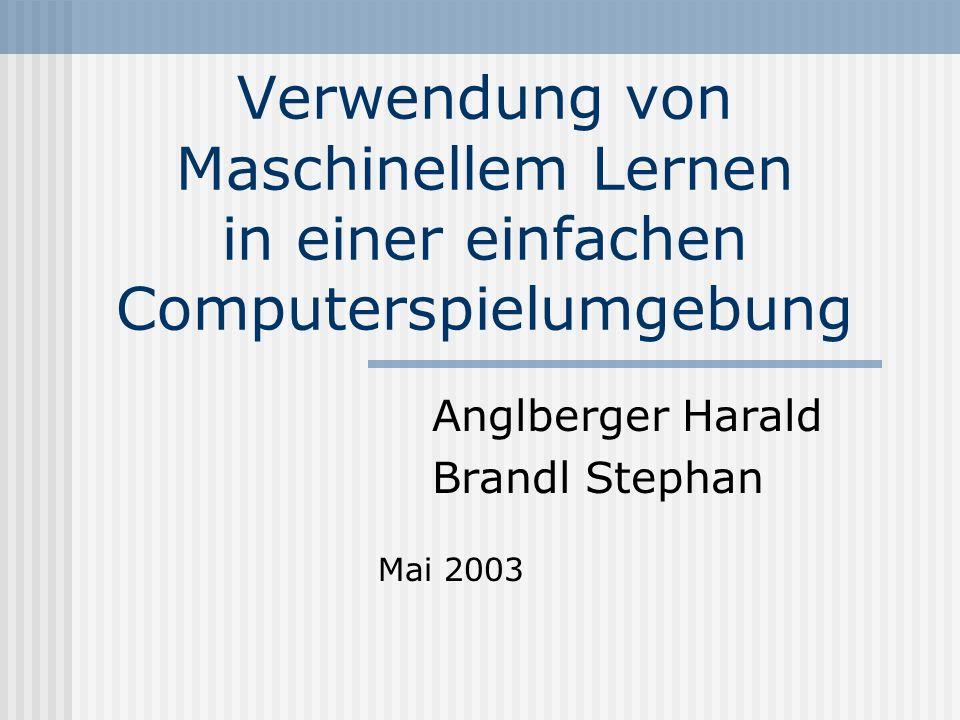 Verwendung von Maschinellem Lernen in einer einfachen Computerspielumgebung Anglberger Harald Brandl Stephan Mai 2003