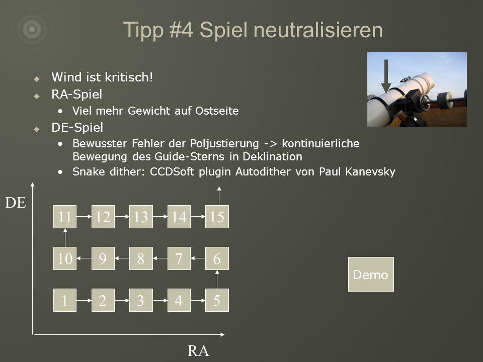 Tipp #4 Spiel neutralisieren Wind ist kritisch.