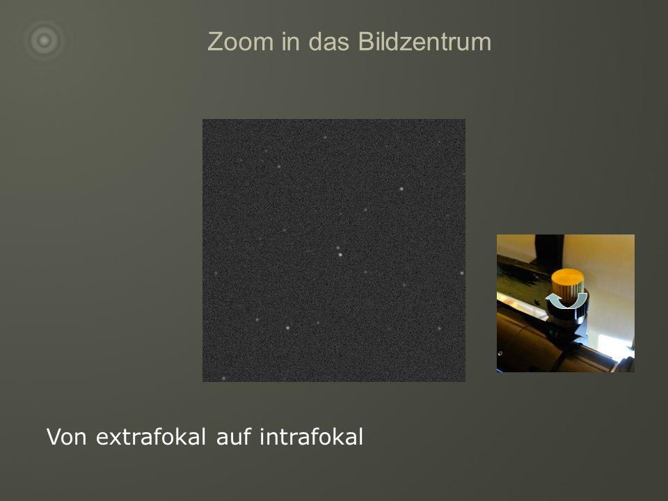Zoom in das Bildzentrum Von extrafokal auf intrafokal