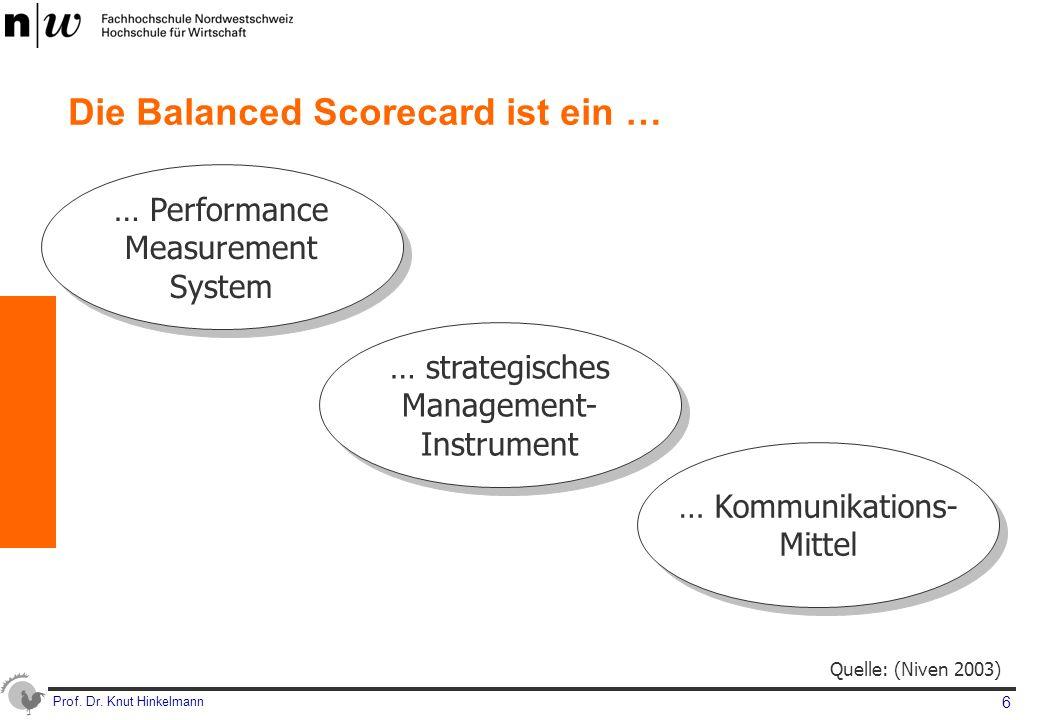Prof. Dr. Knut Hinkelmann 17 Cockpit: Performanzmessung – Aktueller Stand der Zielerreichung
