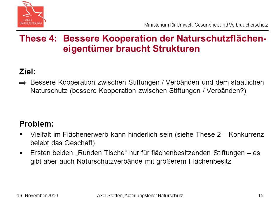Ministerium für Umwelt, Gesundheit und Verbraucherschutz 19.