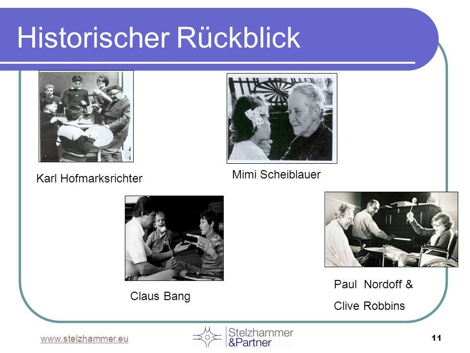 www.stelzhammer.eu 11 Historischer Rückblick Mimi Scheiblauer Paul Nordoff & Clive Robbins Claus Bang Karl Hofmarksrichter
