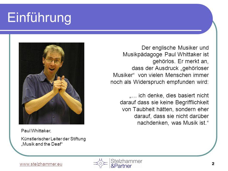 www.stelzhammer.eu 13 Literaturhinweise BECKER, Maryanne (2008): Klänge aus dem Schneckenhaus - Cochlea Implantat Träger erzählen.