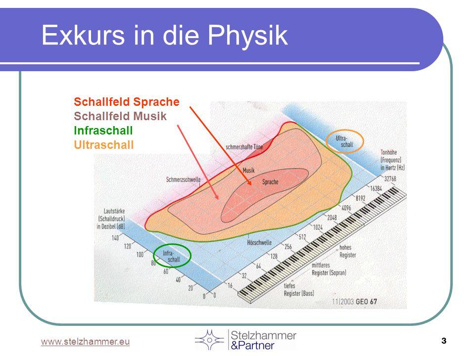 www.stelzhammer.eu 3 Schallfeld Sprache Schallfeld Musik Infraschall Ultraschall Exkurs in die Physik