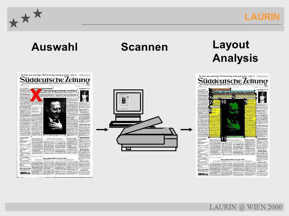 LAURIN @ WIEN 2000 LAURIN LAURIN Centrale Node Tools Replicator - Daten Replikation und Datenabgleich zw. lokalen Knoten und zentralem Knoten Zentrale