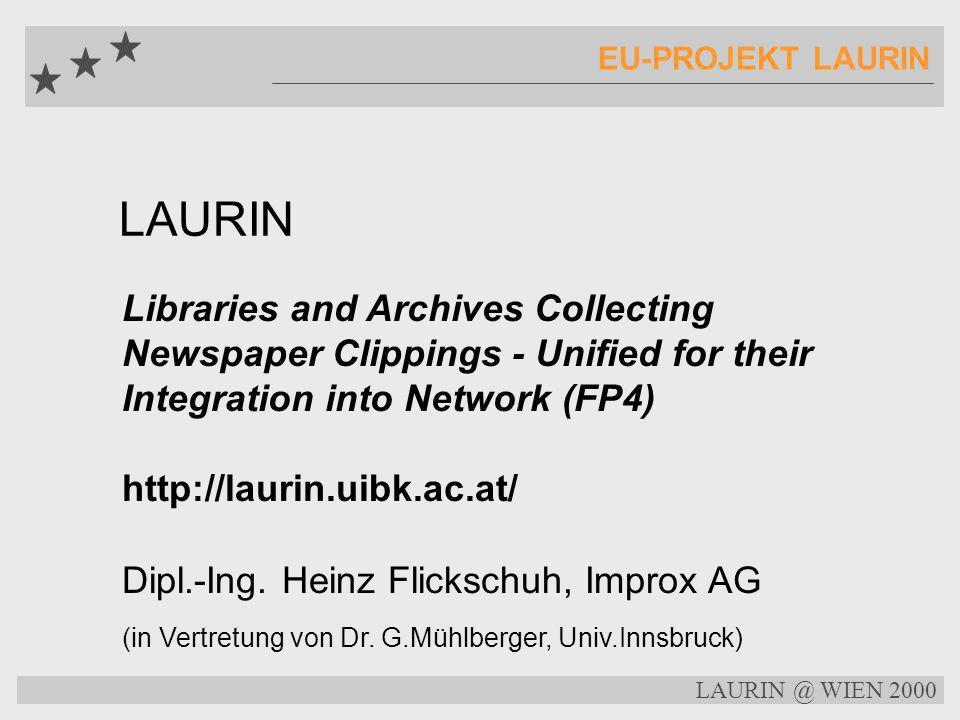 Ausnahmen in der EU-Direktive BIBLIOTHEKSPRIVILEGIEN öffentliche Archive und Bibliotheken können elektronische Archive führen und - so die Auskunft des österreichischen Delegierten - auch onsite zugänglich machen off-site Zugang und damit auch Netzwerke werden die Zustimmung der Rechtsinhaber benötigen LAURIN @ WIEN 2000...