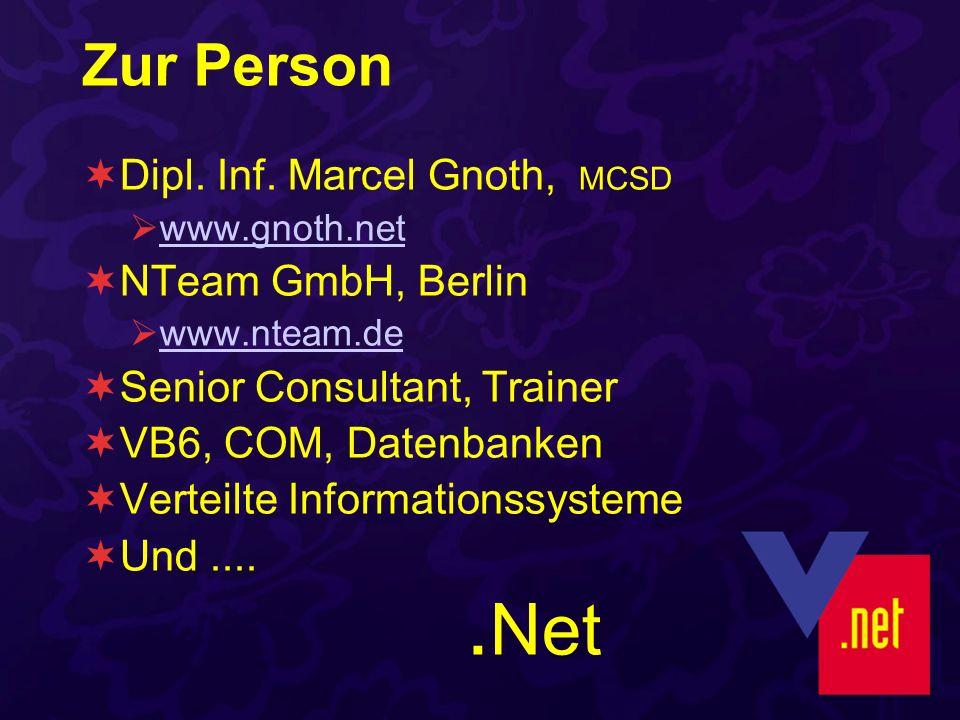 Zur Person Dipl. Inf.