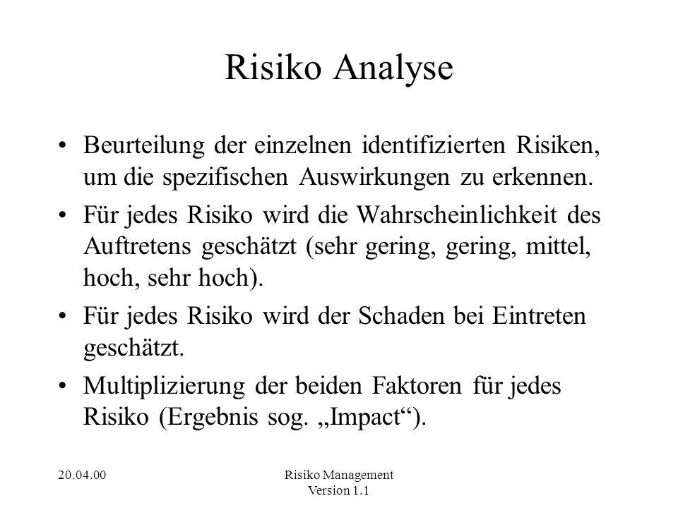 20.04.00Risiko Management Version 1.1 Beispiel f.
