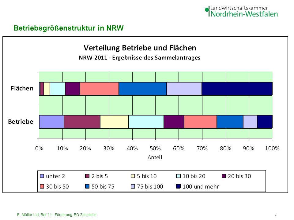 R. Müller-List, Ref.11 - Förderung, EG-Zahlstelle 4 Betriebsgrößenstruktur in NRW