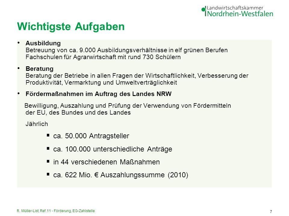 R. Müller-List, Ref.11 - Förderung, EG-Zahlstelle 18