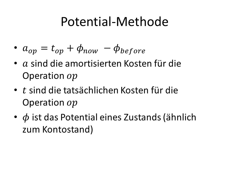Potential-Methode